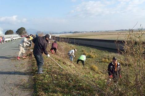 熊本城マラソンコース清掃