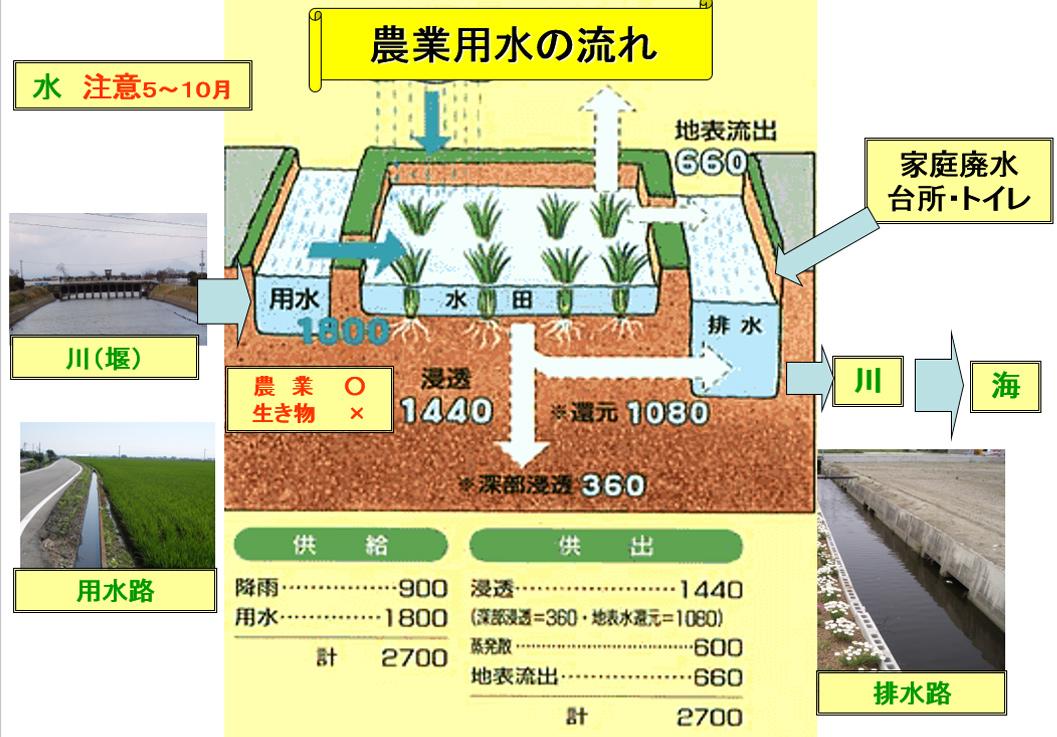 農業用水の流れ