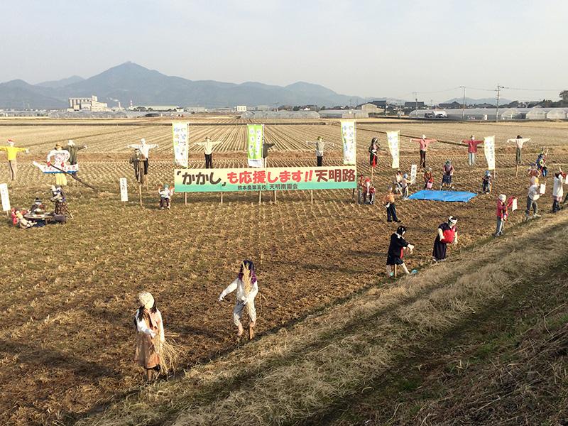 熊本城マラソン2017応援かかし